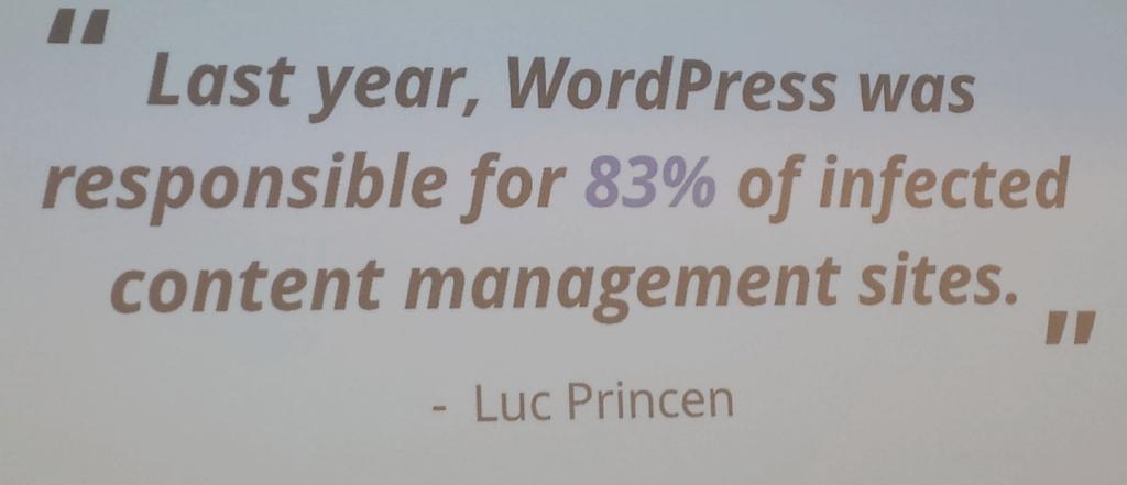 83% van de geïnfecteerde sites draaide op WordPress